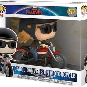 Funko Pop Carol Danvers en moto