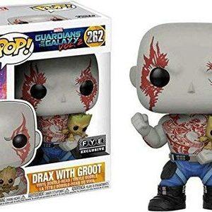Funko Pop Guardianes de la Galaxia Drax con Groot