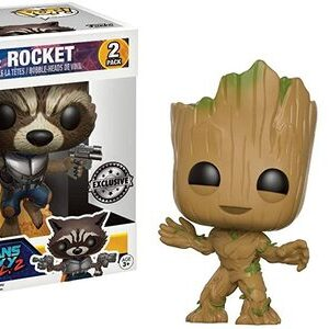 Funko Pop Guardianes de la Galaxia Pack Rocket y Groot