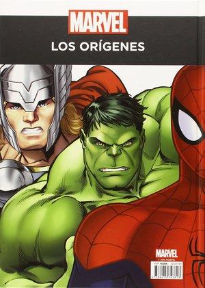 Marvel. Los Origenes de tus heroes contraportada