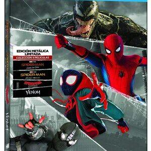 Pack Spider-Man, Miles Morales y Venom. 4 peliculas