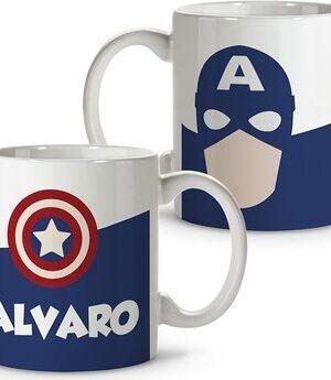 Productos y Artículos de Marvel S0 Taza Personalizada SuperHeroe+tu nombre. Varios modelos