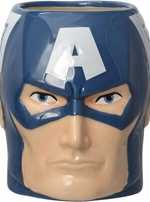 S2 Taza Cabeza Capitan America Marvel