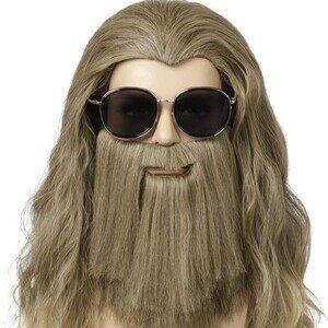 Adulto Disfraz de Thor Vengadores Endgame. Peluca y barba
