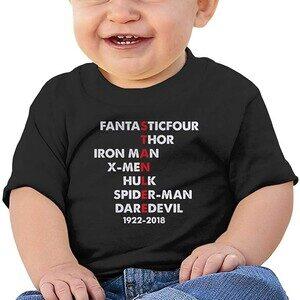Camiseta Bebé Stan Lee letras