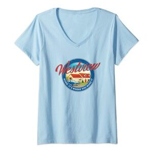 Camiseta Cuello V Marvel Wandavision TV Westview