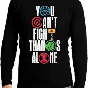 Camiseta Manga Corta Niño You Can't Fight Thanos Alone
