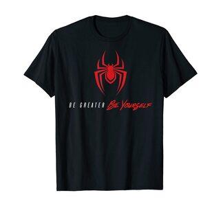 Camiseta Spider-Man Miles Morales Be Yourself araña