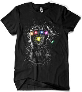 Camiseta Thanos Guantelete Splatter (La Colmena)
