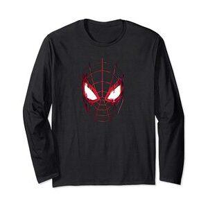 Camiseta manga larga Spider-Man Miles Morales Máscara