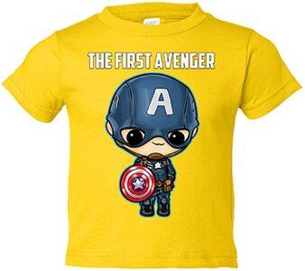 Las mejores camisetas de Marvel Camiseta niño manga corta Capitan America de niño