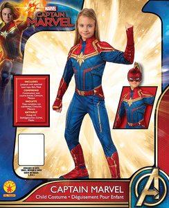 Disfraz de niña de Capitana Marvel