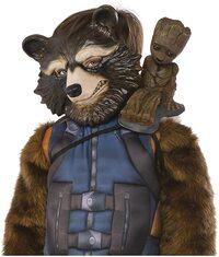 Disfraz de niño de Rocket de Guardianes de la Galaxia. Adorno de Groot