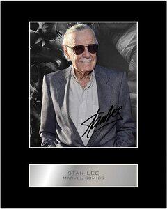 Foto firmada de Stan Lee con autógrafo impreso
