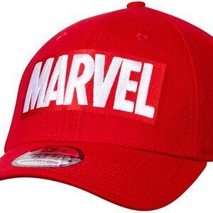 Gorra New Era 39THIRTY Marvel Logo color rojo