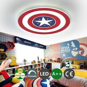 Lámpara de techo del Capitán América Símbolo. Varios tamaños