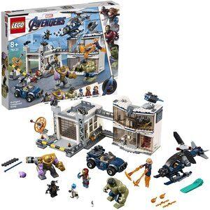 Lego Batalla en el Cuartel de Los Vengadores. Con Thanos, Hulk, Ironman, Capitana Marvel, Nebula y Ant-Man