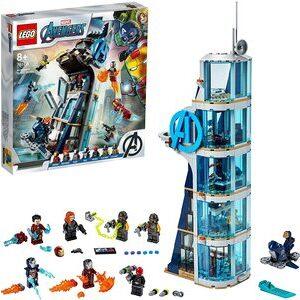 Lego Batalla en la Torre de los Vengadores. Con Ironman (dos trajes), Viuda Negra y Cráneo Rojo