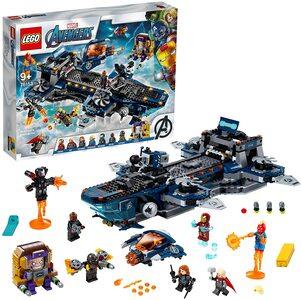 Lego Helitransporte de los Vengadores. Con Ironman, Thor, Capitana Marvel, Viuda Negra, War Machine y Nick Furia