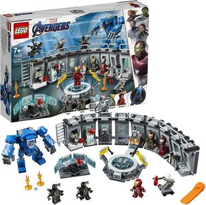 Lego Ironman. Sala de Armaduras, coleccion de trajes de Tony Stark