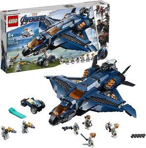 Lego Nave de combate de Los Vengadores. Con Viuda Negra, Ojo de Halcón, Rocket y Thor