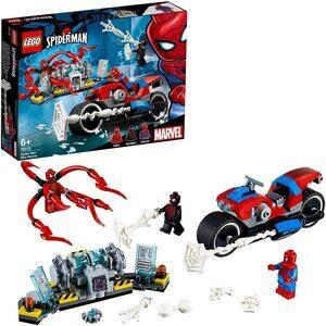 Lego Rescate en Moto de Spider-Man. Con Spider-Man, Miles Morales y Carnage.