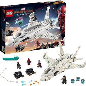 Lego Spider-Man Far From Home Jet Stark. Happy Hogan, Nick Furia, Spider-Man y Mysterio.