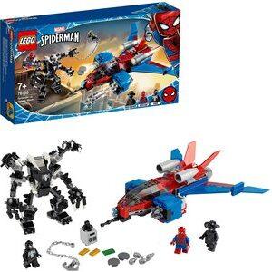 Lego Spider-Man Jet Arácnido vs. Armadura Robótica de Venom