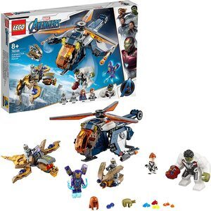 Lego Vengadores Endgame Helicopterode Combate. Con Hulk, guantelete, Viuda Negra y Pepper