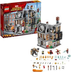 Lego Vengadores Infinity War. Duelo en Sancta Sanctorum con Ironman, Dr. Strange, Iron Spider-Man y Ebony Maw
