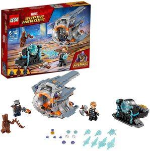 Lego Vengadores Infinity War. Estación espacial con Rocket, Groot adolescente y Thor