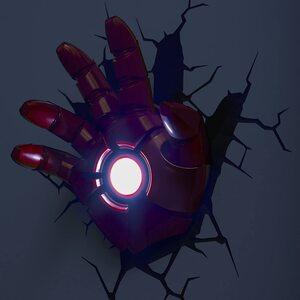 Luz Nocturna Ironman Mano 3D