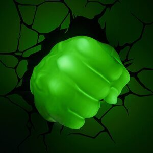 Luz Nocturna de Hulk Puño 3D