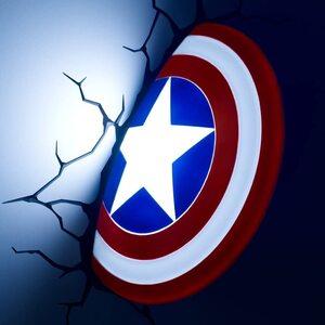 Luz de pared de Capitan America Escudo 3D