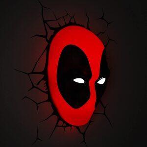 Luz de pared de Deadpool Máscara 3D
