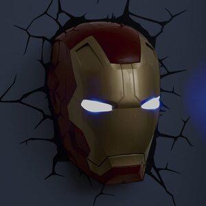 Luz de pared de Ironman Máscara 3D