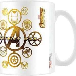 S3 Taza Marvel Avengers Infinity War Iconos Superhéroes