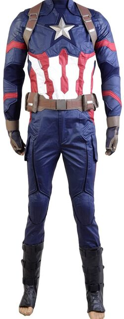 Adulto disfraz de Capitan America Civil War de lujo