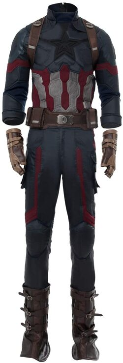 Adulto disfraz de Capitan America Infinity War de lujo