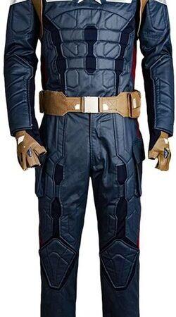 Adulto disfraz de Capitan America el Soldado de Invierno de lujo