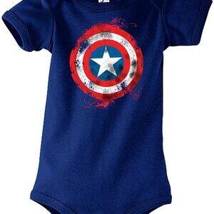 Body para Bebe Capitan America Escudo azul