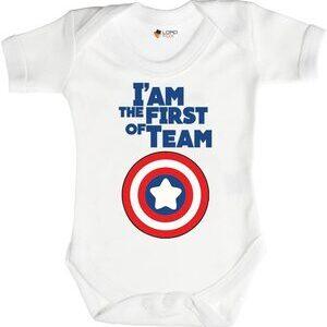 Body para Bebe Capitan America I'm the First of Team