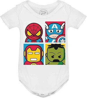Las mejores camisetas de Marvel Body para Bebe Los Vengadores Dibujitos
