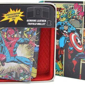 Cartera Marvel Comics Ed. Limitada Caja Metalica Spider-Man