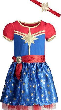 Disfraz de niña pequeña de Capitana Marvel
