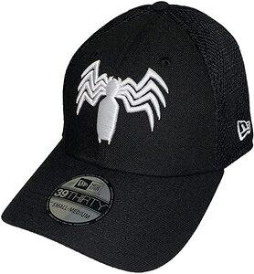 Gorra New Era 39THIRTY Venom Logo blanco y negro