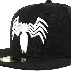 Gorra New Era 59FIFTY Venom Logo blanco y negro