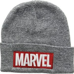 Gorro de punto New Era Marvel Logo Gris