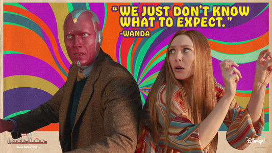 Capitulo 3 Poster Wanda y Vision años 70