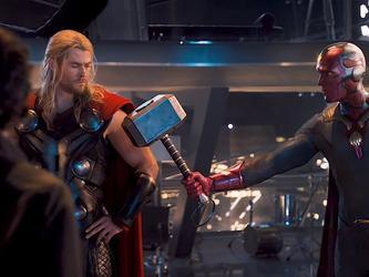 Wandavision Vision y el mazo de Thor Ancha